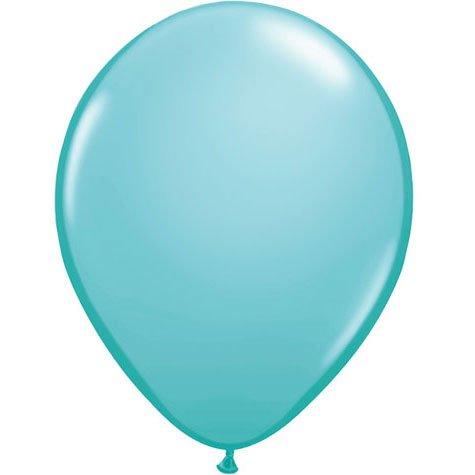 "11"" Caribbean Blue Latex Balloons (10ct) - 1"