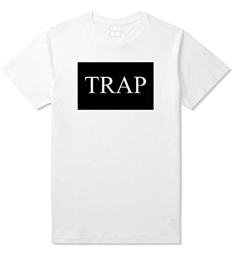 Kings Of NY Trap Hood Dope Cool TI Box Logo NYC T-Shirt Small White (Ti Clothing compare prices)