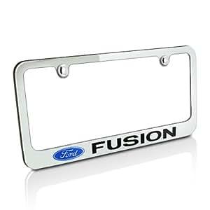Amazon Com Ford Fusion Chrome Metal License Plate Frame