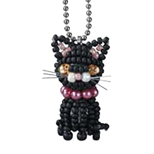 Create Your Own Miyuki Mascot Bead Charm Kit - Halloween Black Cat
