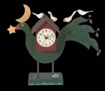 Clocks Green Wood, Bird Clock for Desk | 63877