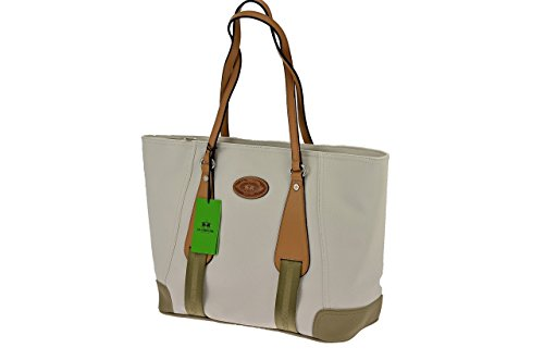 La Martina Borsa Shopping media colore Bianco - L61PW2760052010