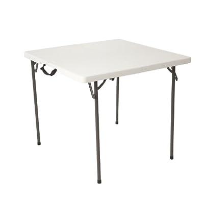 Lifetime 80273 34-Inch Square Fold in Half Table, White