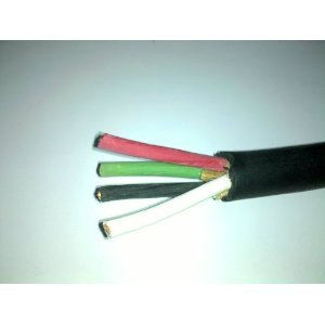 Wire Cord, 50 Ft, Rubber Coated, 10 Gauge, 4 Conductor (10/4) 600v SOOW