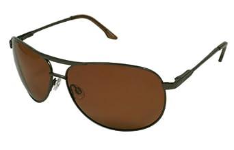 Polaroid P4039A Marron P4039A Aviator Sunglasses Polarised Lens Category 3