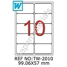 TANEX tW-päckchen- 2010/adresse 99,06 x 57 mm blanc -abgerundet- 500 feuilles a4