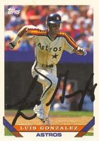 Luis Gonzalez Houston Astros 1993 Topps Autographed Hand Signed Trading Card. by Hall+of+Fame+Memorabilia
