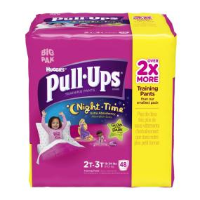 Pull- Up Night Time training pants helps big kids celebrate potty training.