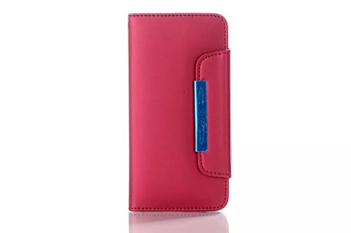 """(Case For Iphone 6/4.7 Inch) Bon Venu New Design Wallet Nubuck Leather Leather Cover Case For Apple Iphone 6 4.7"""" With Card Holder Phone Bag Skin Case For Apple Iphone 6 4.7"""" Case + Screen Protector (Red)"""
