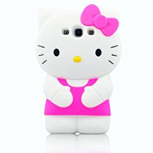 W rainbow hot pink cute hello kitty pattern 3d cartoon soft silicone back case for samsung - Hello kitty fernseher ...