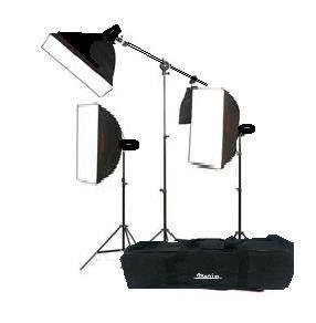 Rocwing Softbox Set 125w x3 Continuous Light 50x70cm + Boom ST