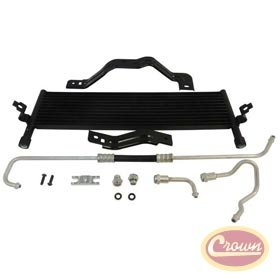 Transmission Cooler Kit 2007-2011 JK WranglerIncludes cooler, brackets, lines, adapters, and hardware. 82212486AB