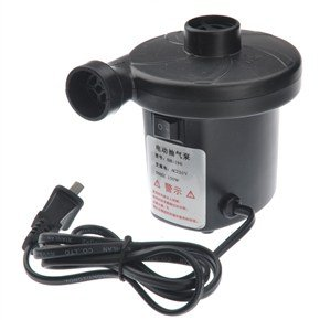 Sh-196 Ac 220V 150W Ac Electric Air Pump With 3 Nozzles (Black)