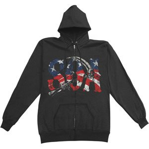 Rockabilia Sons Of Anarchy SOA Reaper Am Flag Hooded Sweatshirt Large