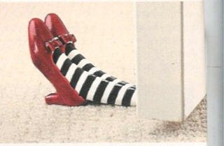 The wizard of oz red ruby slippers doorstop wicked witch of the east office supplies book - Wizard of oz doorstop ...