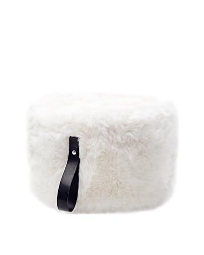 Royal Dream Puff Sheepskin Blanco/Negro