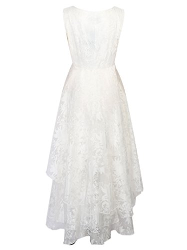 Persun-Womens-White-Floral-Print-Gauze-Panel-Multi-Layer-Sleeveless-Hi-lo-Dress