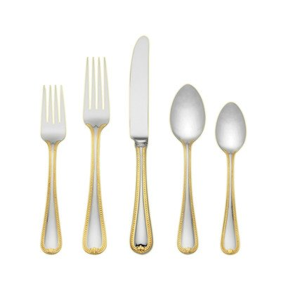 Lenox 5-Piece Vintage Jewel Gold Place Setting
