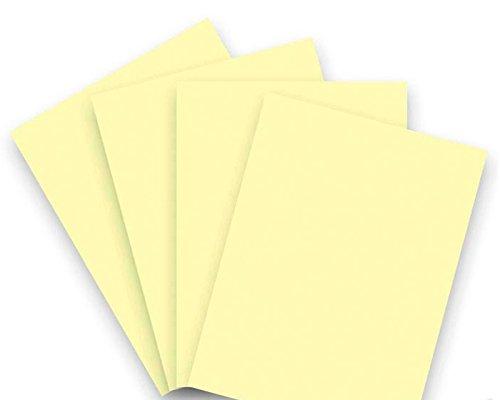20 Blatt Qualitätspapier / Farbpapier / Kopierpapier A4 HELLGELB 160g/qm Coloraction