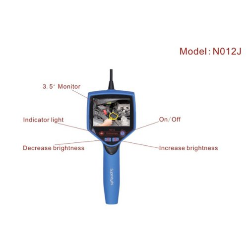 Supereyes N012J 9.5Mm 50X Portable Usb Digital Microscope Endoscope With 3.5Inch Monitor Screen