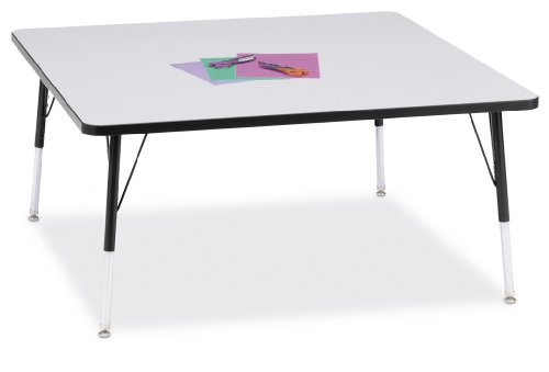 Your Extra Price Kydz Square Activity Table 48 X 48 Color Gray With Black Ridgeline Band Table Height Adult 24 31 Office Products Salespeaker154