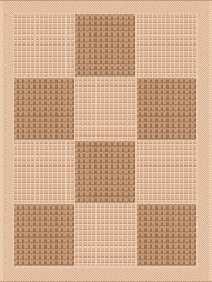 Chess Natural Sisal Flatweave Indoor Rugs with Contemporary Design (1'11''x3'7'', Beige)