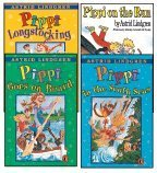 The Pippi Longstocking 4-Book Set: Pippi Longstocking, Pippi Goes on Board, Pippi in the South Seas, and Pippi on the Run (0590130307) by Astrid Lindgren