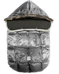 7 A.M. Enfant Le Sac Igloo Extendable Baby Bunting Bag Adaptable for Strollers, Gray, Medium
