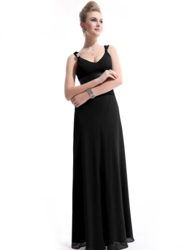 He09601Bk14, Black, 12Us, Ever Pretty Evening Gowns For Women Formal 09601