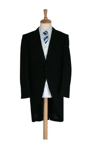 Marco Carlotti Mens Traditional Black Morning Coat 40R