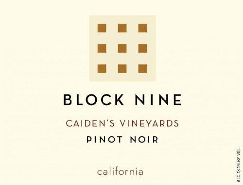 2013 Block Nine Caiden'S Vineyards California Pinot Noir 750Ml