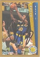 Mario Elie Golden State Warriors 1992 Fleer Autographed Hand Signed Trading Card -... by Hall of Fame Memorabilia