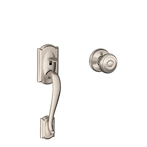 Camelot Front Entry Handle Georgian Interior Knob (Satin Nickel) FE285 CAM 619 GEO (Entrance Door Handle compare prices)