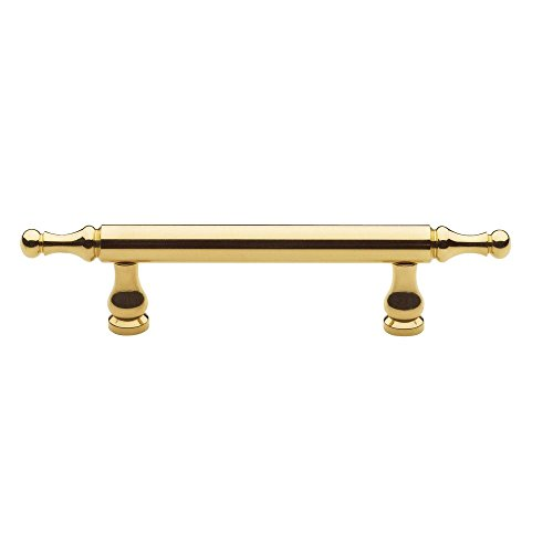 Baldwin 4475.030.BIN Spindle Cabinet Pull, Polished Brass - Lacquered (Baldwin Cabinet Hardware compare prices)