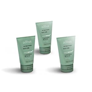 Alba Botanica Sea Enzyme Facial Scrub  3 Pack (4 oz)