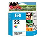 HP Ink cartridge N°22- Cyan, magenta, yellow for HP Deskjet 3920, 3940, for HP PSC 1400, 1410
