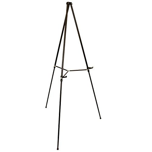 US Art Supply 66 inch Tall Showroom Large Black Aluminum Display & Presentation Floor Easel (1-Easel) (Display Floor Easel compare prices)
