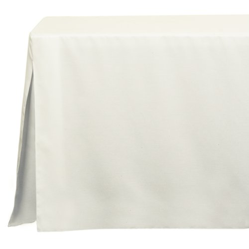 Tablevogue 6-Foot Fitted Folding Tablecloth, White