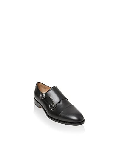 British Passport Monkstrap Toe Cap [Nero]