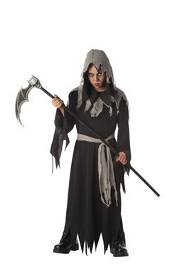 Child Shredded Robe Grim Reaper Costume for Halloween