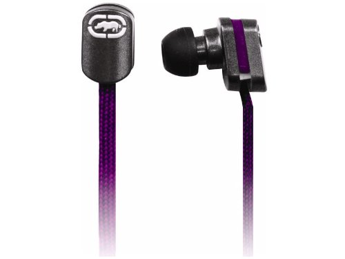 Mizco Eku-Lce-Prp Ecko Lace Stereo Earbud Headphones With In-Line Microphone - Purple