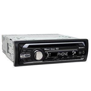 Sony MEXBT2700 CD Receiver with Bluetooth Hands-Free with Integrated Microphone (Black)