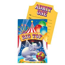 Big Top Circus Pop up Invitations Pack of 8