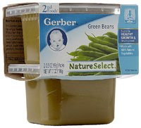 Gerber NatureSelect 2nd Foods GreenBeans -- 8 Pack