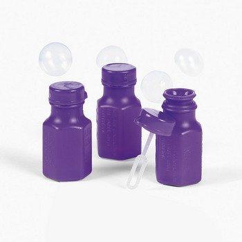 Mini Hexagon Purple Bubble Bottles - Novelty Toys & Bubbles