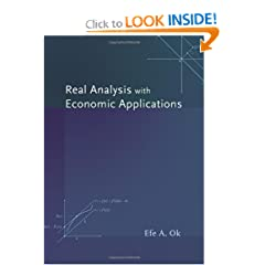 Real Analysis with Economic Applications (9780691117683)