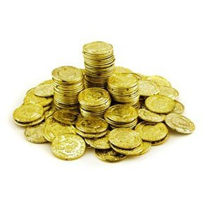 Plastic Gold Coins 288 ct by Toy World