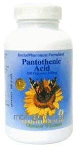 Pantothenic Acid 500 mg 100 Capsules by Verified Quality