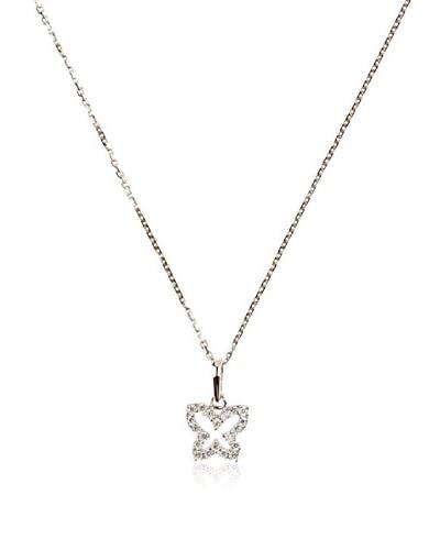 L'Instant d'Or Conjunto de cadena y colgante Papillon De Lumière Oro Blanco