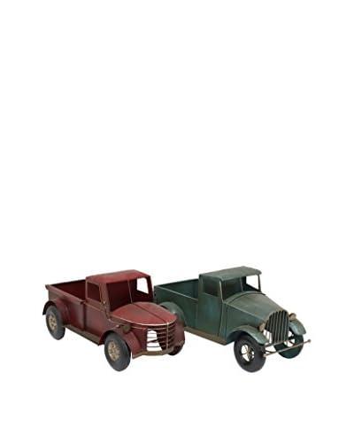 Three Hands Set of 2 Metal Decorative Trucks